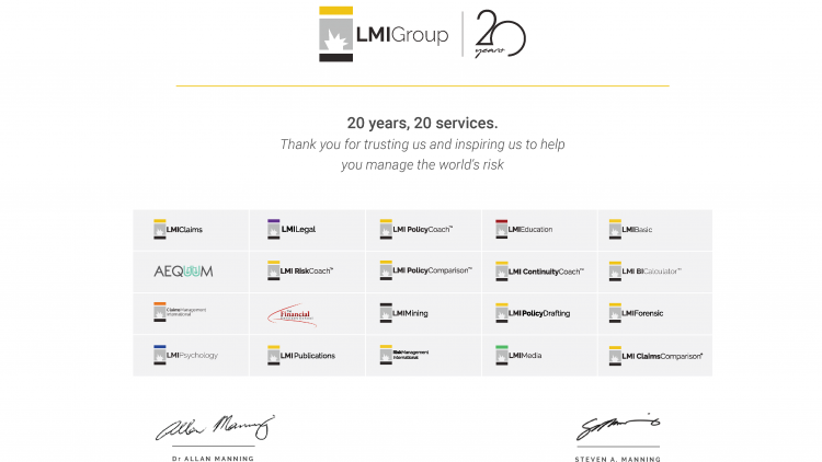 LMI Group celebrate 20 years, 20 services.
